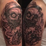 Chicano Skull Tattoo
