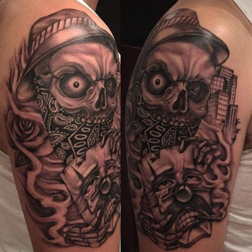 Chicano skull tattoo best tattoo ideas gallery for Chicano tattoo art