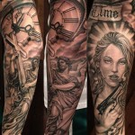 sleeve tattoo chicano