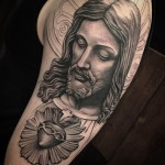 Chicano Tattoo Jesus