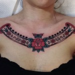 Collar Bone Neo-Traditional Tattoo
