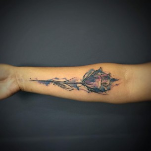 Flower Tattoo Forearm