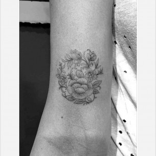 French Design Tattoo Flowers