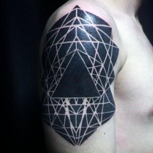 Geometry Blackwork Tattoo on Shoulder