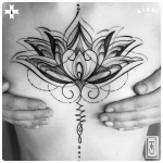 hindu lotus tattoo for girl