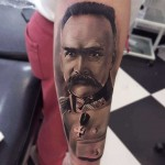 J.Piłsudski Tattoo Portrait