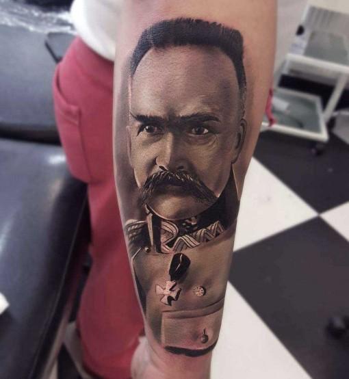 Tattoo Portrait J.Piłsudski