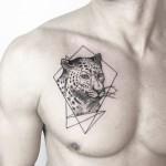 Jaguar Tattoo on Chest