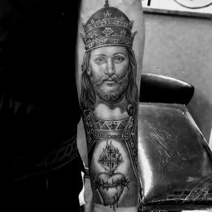 Jesus Arm Tattoo