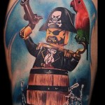 Lego Pirate Tattoo