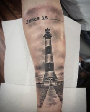 Lighthouse 3D Tattoo