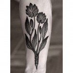 Pencil Flowers Tattoo Dotwork
