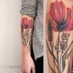 Poppy Flower Tattoo Watercolor