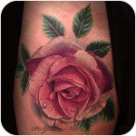 Pink Rose Tattoo Realistic