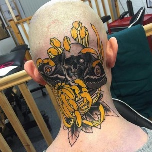 Skeleton Head Tattoo