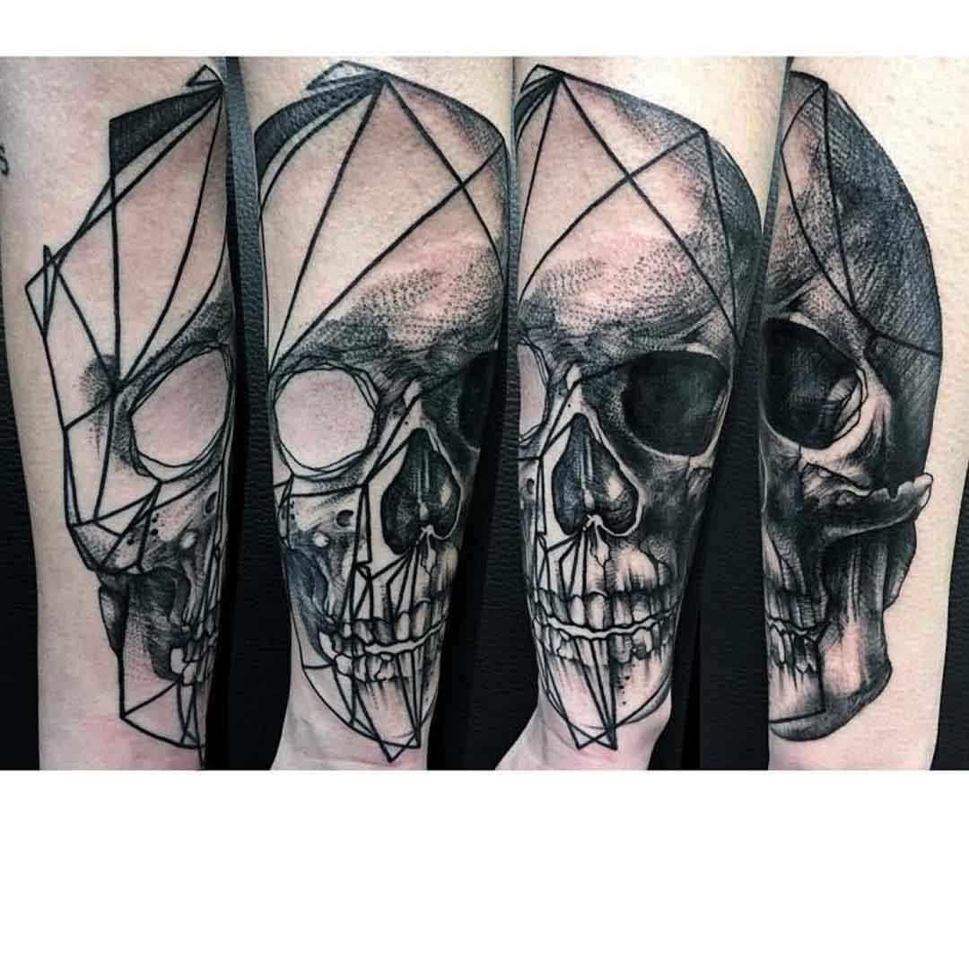 forearm skull tattoo design
