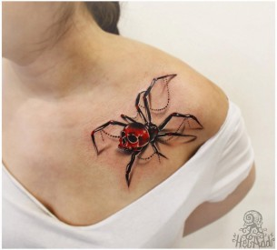 Spider Tattoo 3D