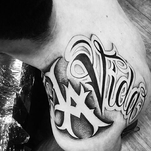 Letters Tattoo Design Chicano