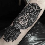 owl tattoo deathly hallows