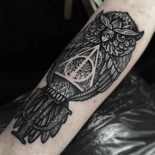 Tattoo Deathly Hallows Symbol | Best Tattoo Ideas Gallery Labyrinth Owl Tattoo