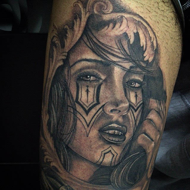 tattoo girl Chicano style