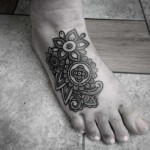 Top of Foot Tattoo