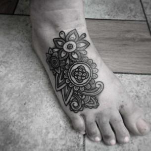 Top of Foot Tattoo