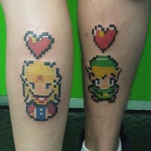 A Zelda and Link couple tattoo!