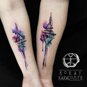 Abstract Watercolor Tattoos