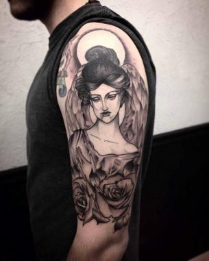 Angel Shoulder Tattoo