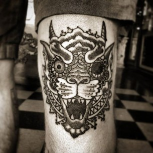Asian Demon Tattoo