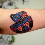 Aztec Bird Tattoo by selfdiagnosed