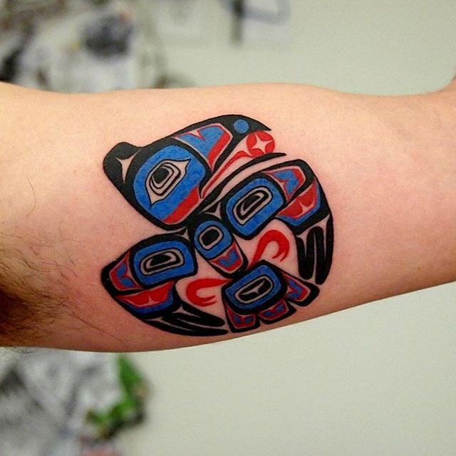 Aztec Bird Tattoo by selfdiagnosed