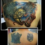 Back Cover Up Tattoo by Felix Carmona