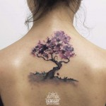 Back Tree Tattoo Watercolor