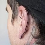 Back of Ear Tattoo