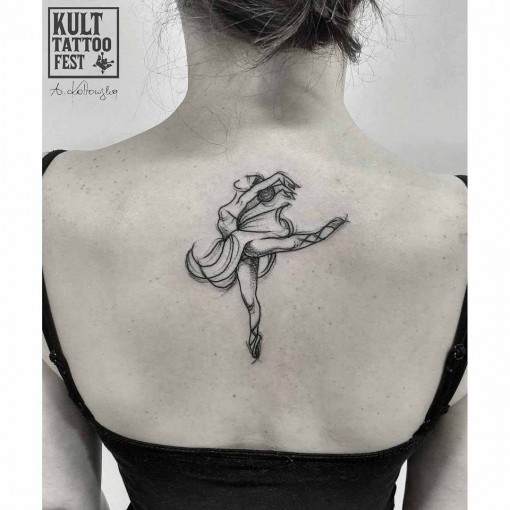back tattoo ballerina