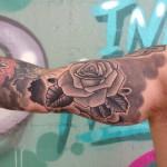 Bicep Rose Tattoo
