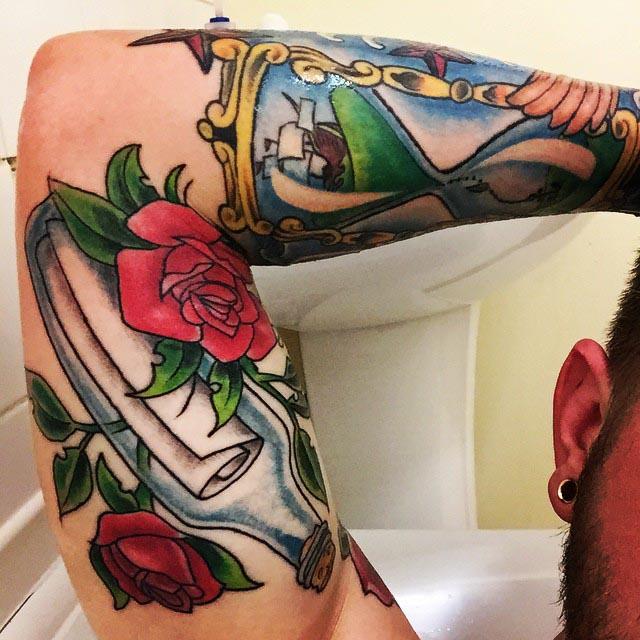 Bicep Sleeve Tattoo by nathberri