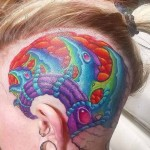 Bio Organic Head Tattoo