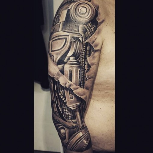 biomechanical tattoo shoulder best tattoo ideas gallery. Black Bedroom Furniture Sets. Home Design Ideas
