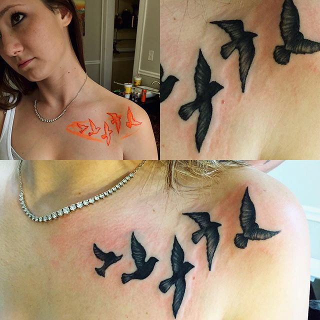 Black Birds Tattoo