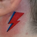 Bowie tribute behind the ear