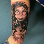 Bride's Corpse Tattoo on Bicep