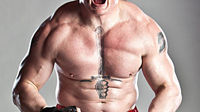 Brock Lesnar moAtivations behind his iconic chest tattoo.