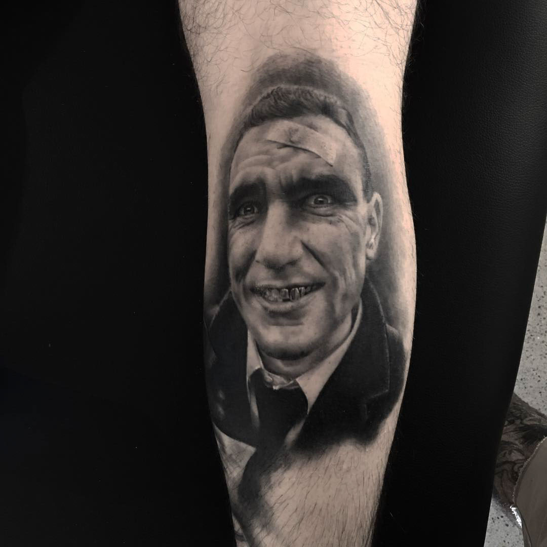 the portrait tattoo Tony Bullet-Tooth