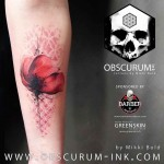 cool poppy tattoo flower