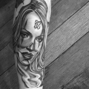 Chicano Tattoo Woman