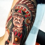Chief Indian Tattoo by Francesco Schiavi