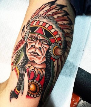 Chief Indian Tattoo